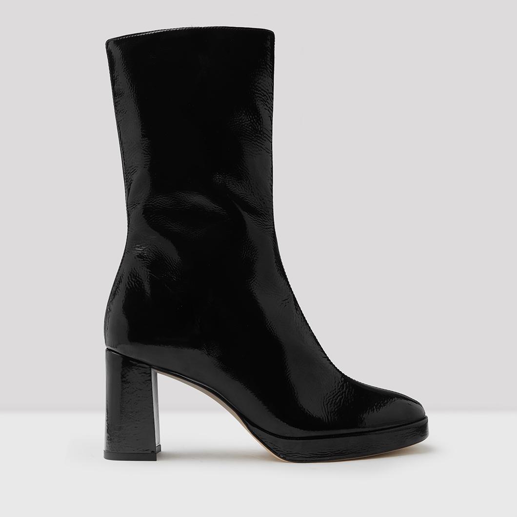 Carlota Black Crinkled Patent Leather