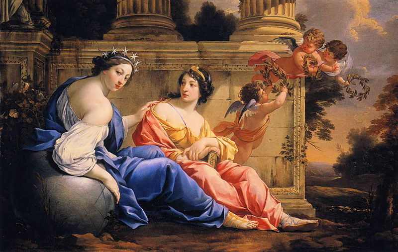 800px-Simon Vouet - The Muses Urania and Calliope