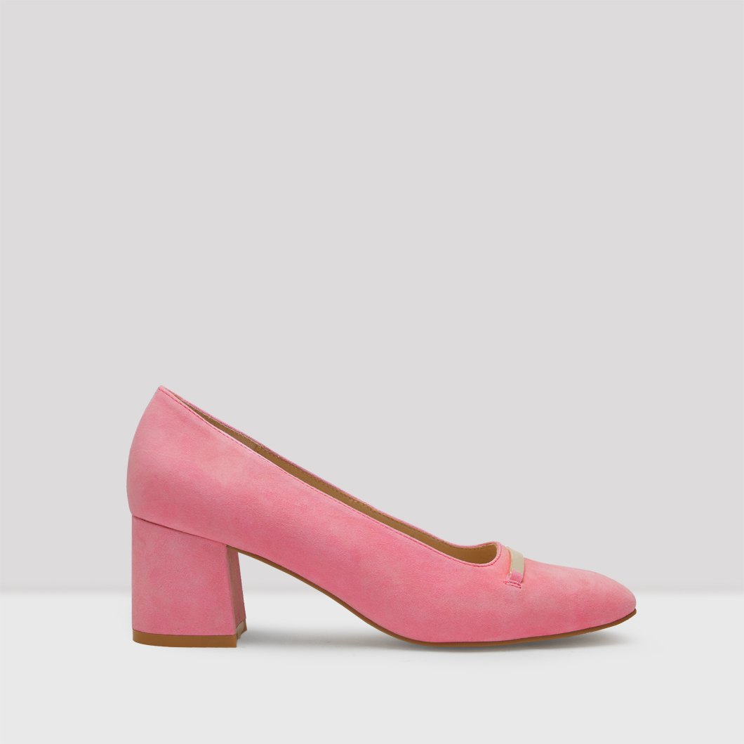 Daisy Rose Pink Suede Heels // E8 by