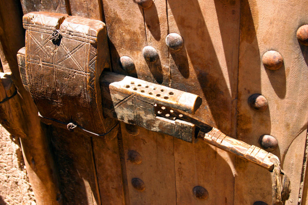 an image of an old sliding lock