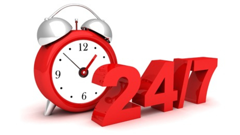 "image of text ""24/7"" service"