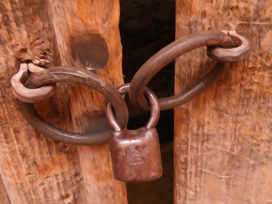Image of an old lock