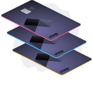 Step card stack