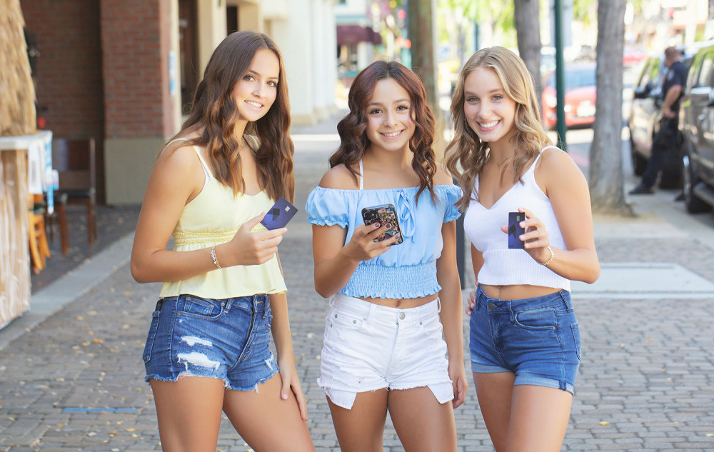 Teens with Step Card