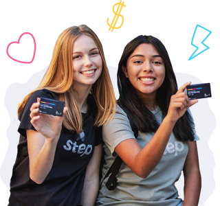 girls with step cards