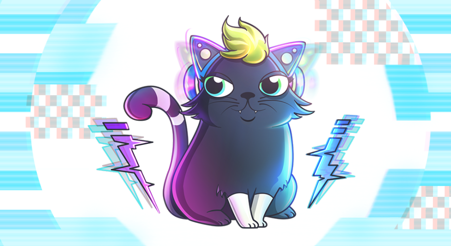 Rock out with our latest Fancy Cat image