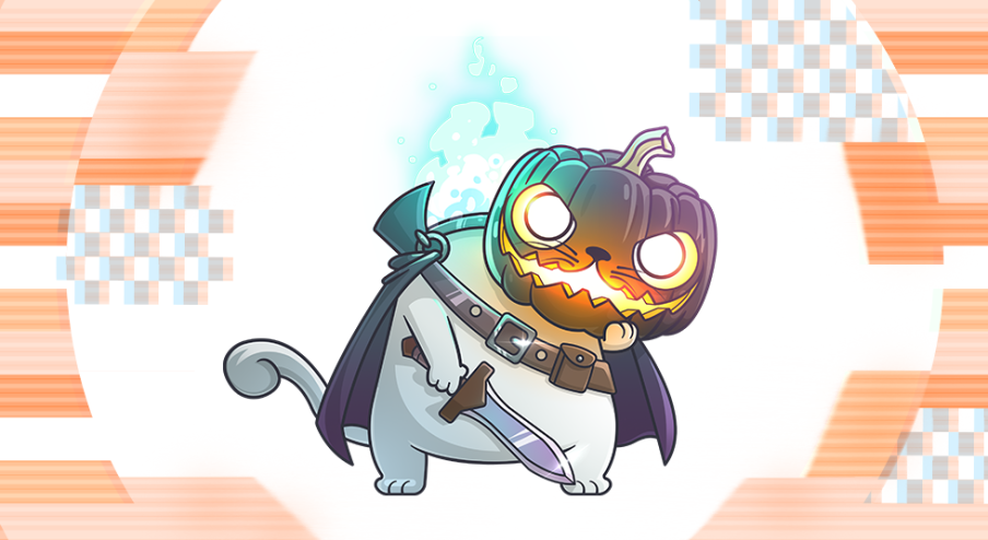 A spooky new Fancy Cat is haunting CryptoKitties image