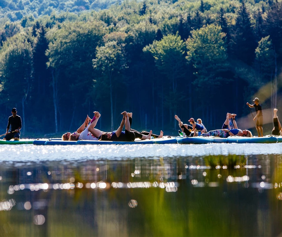 Snowshoe Wanderlust Yoga on Lake