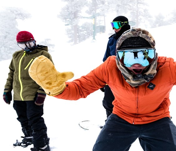 Big Bear Mountain Resort Skiers Stoked