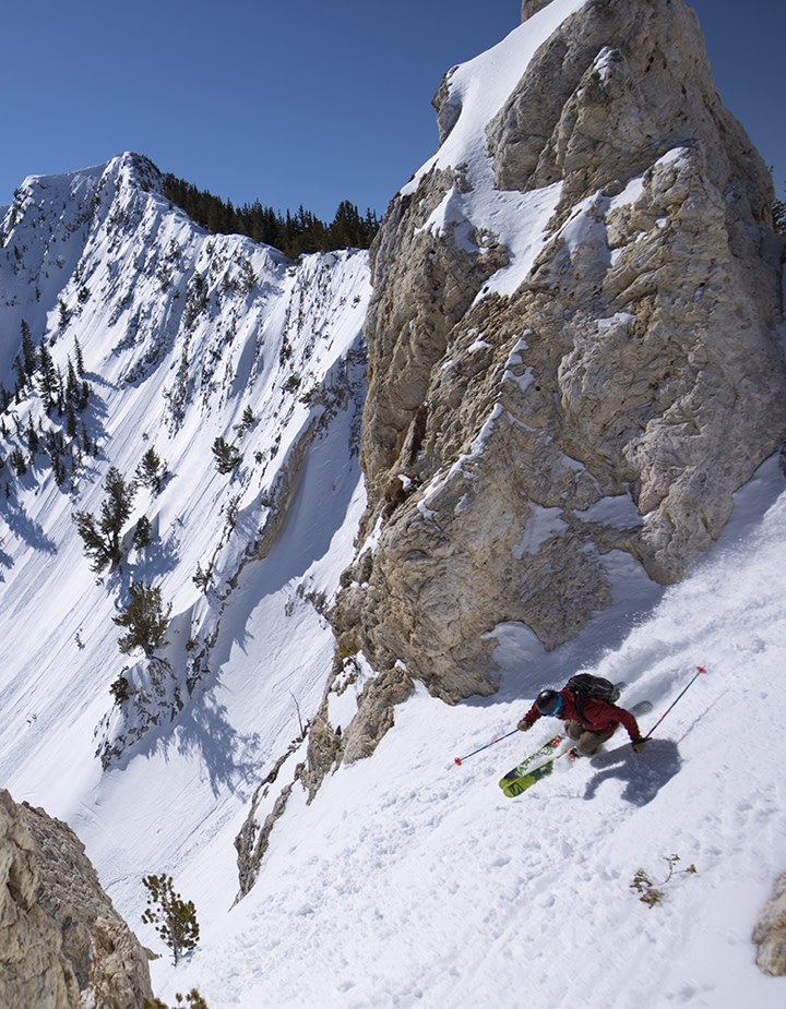 Extreme skier at Solitude Mountain Resort
