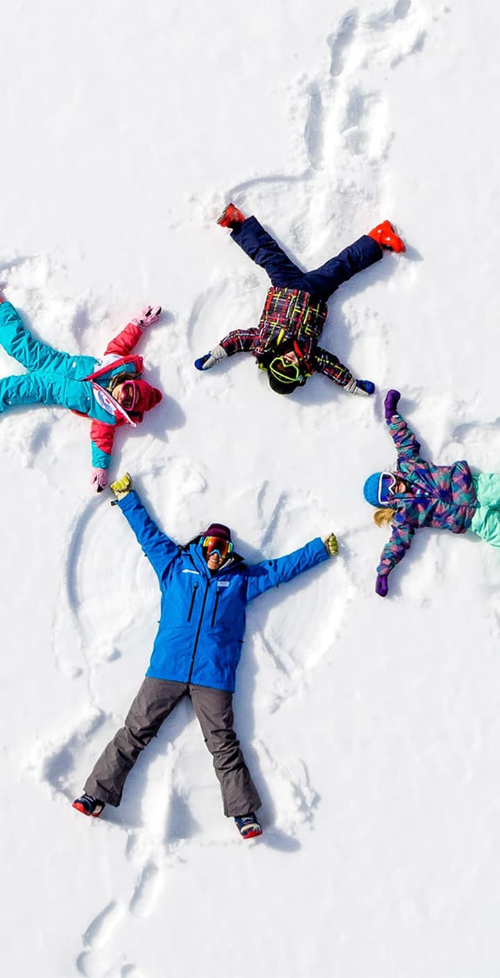 Snowshoe Kids Snow Angels