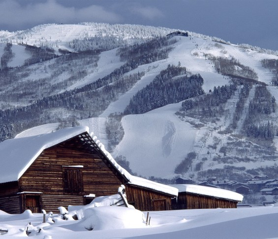 Steamboat Snowy Barn