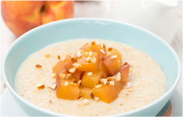 Peach and Walnut Steel Cut Oatmeal Recipe