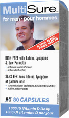 MultiSure® for men   IRON-FREE with Lutein, Lycopene  Saw Palmetto