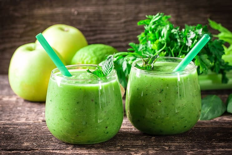 Recette de smoothie aux superaliments verts