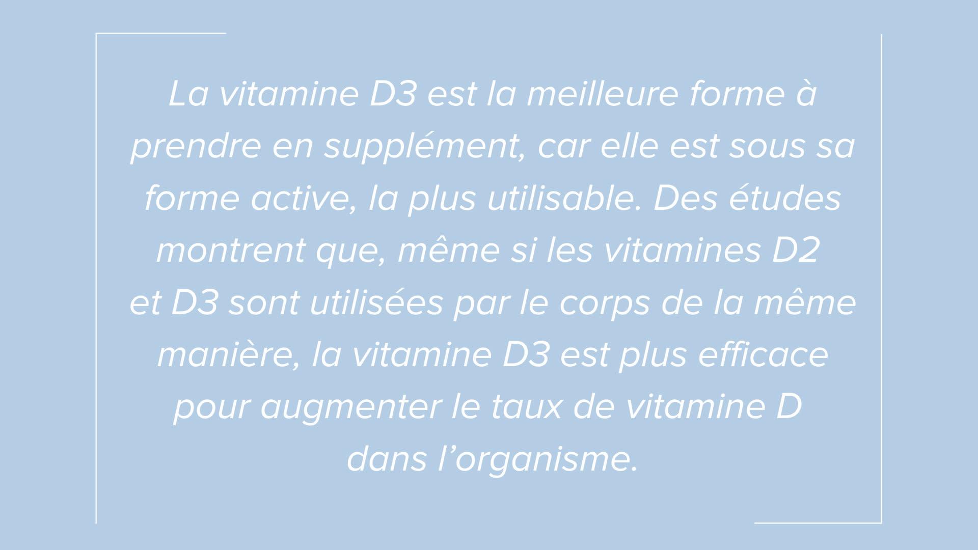 Mise en évidence du texte sur le besoin en vitamine D pendant l'été