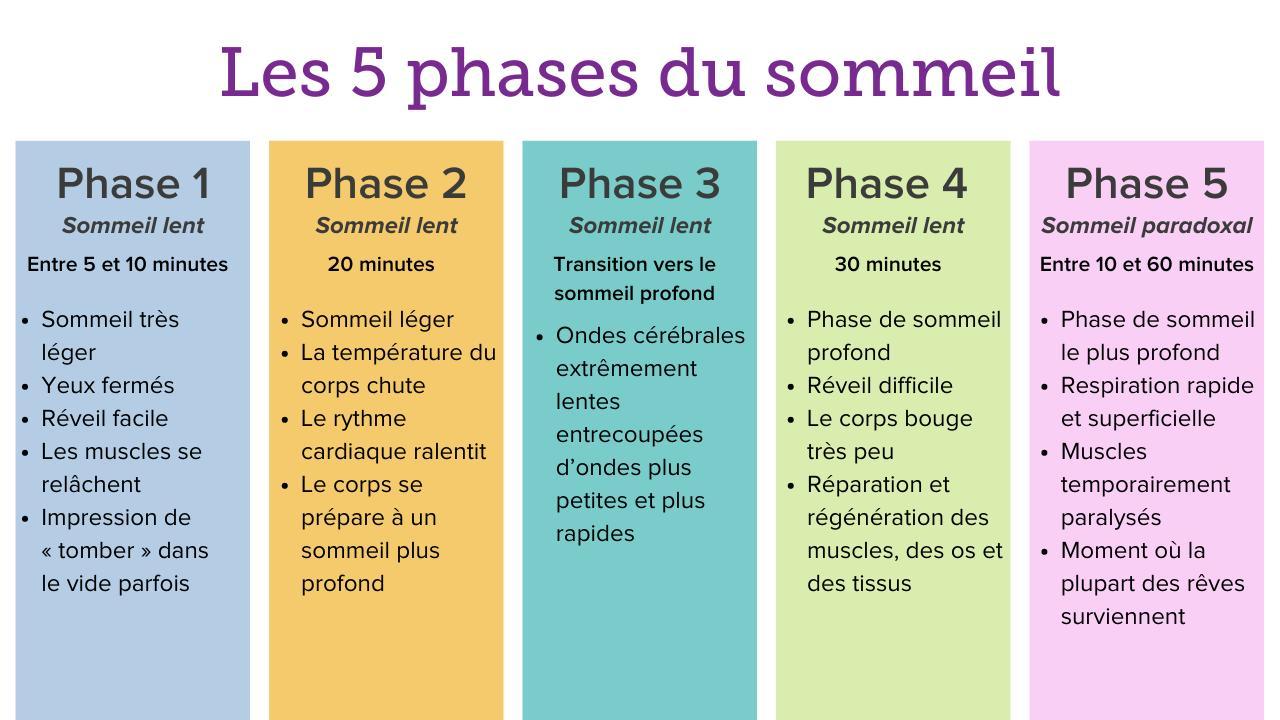 Les 5 phases du sommeil