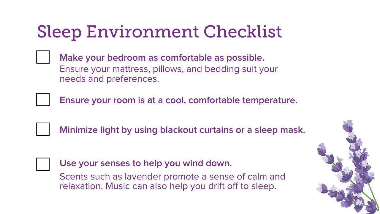 Sleep Environment Checklist