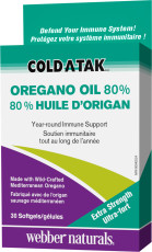 Cold-A-Tak 80 % Huile d'origan Ultra-fort