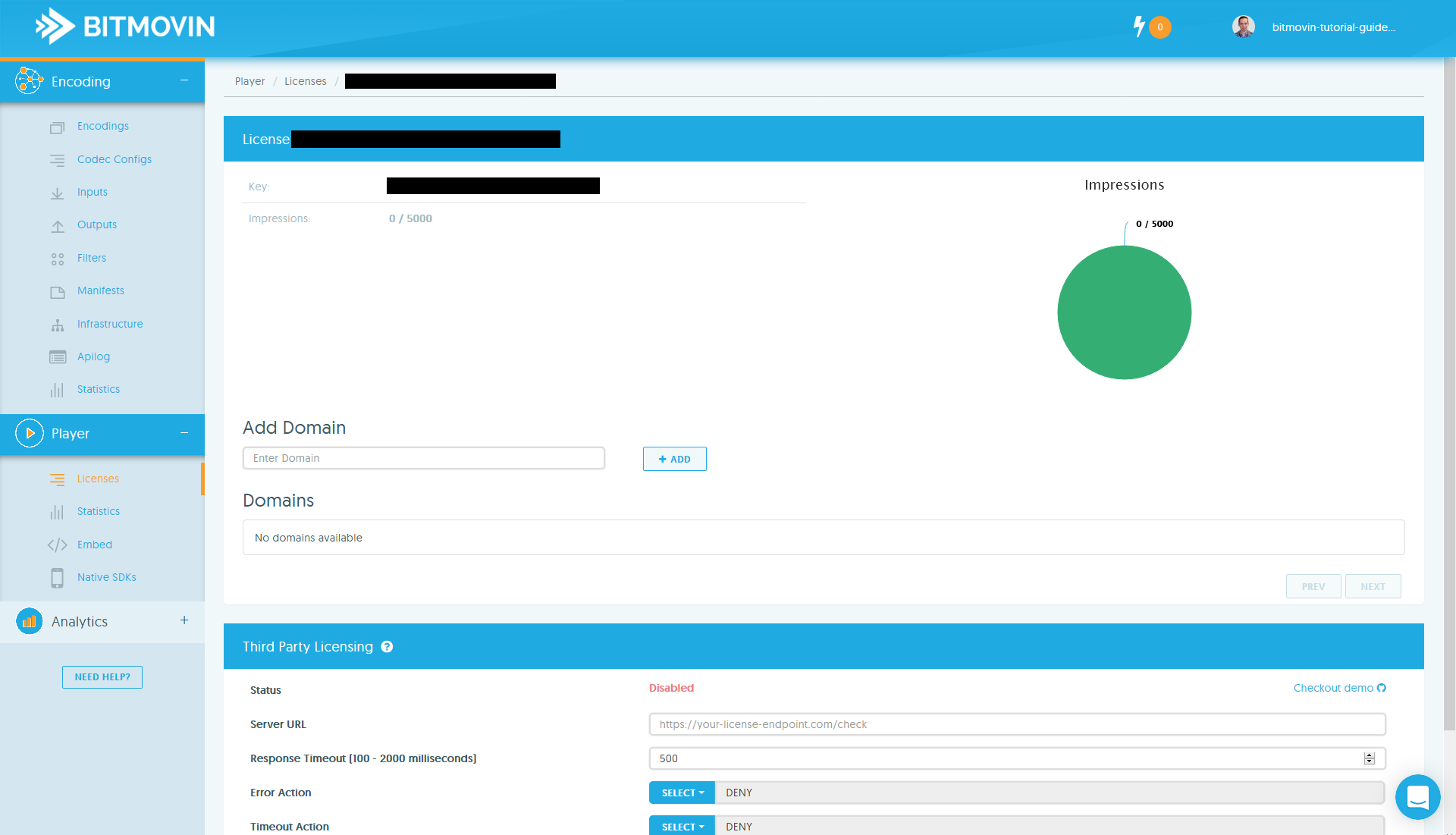 Bitmovin Docs - Player Tutorials | Setup Bitmovin Player