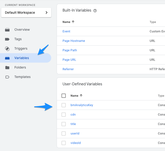 Configure User-Defined Variables in Google Tag Manager