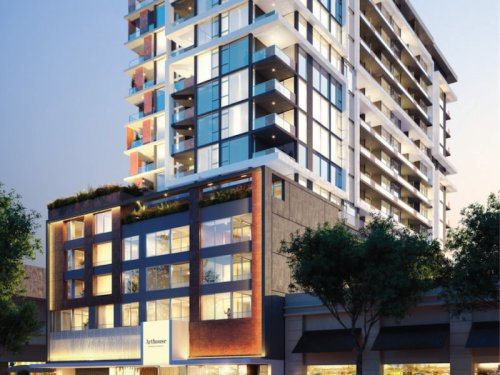 Artist impression of WA Arthouse apartments, apartment building exterior