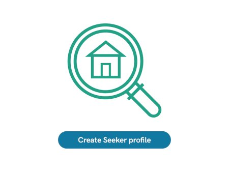 Housing Seeker icon and blue button underneath with the text Create Seeker profile