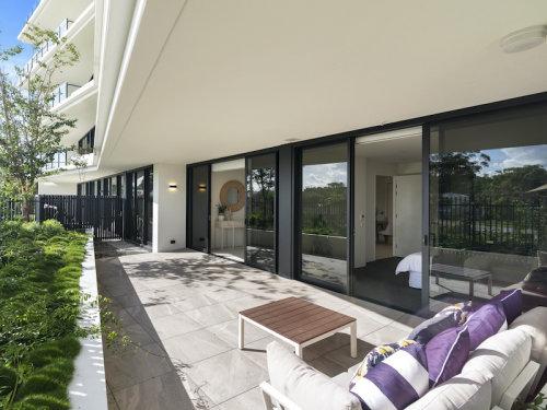 Balcony view at the Magnoli apartments