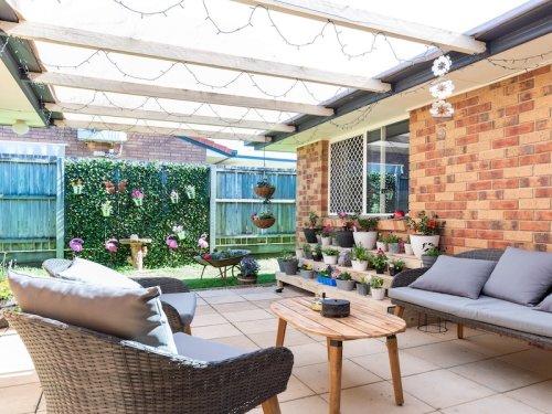 Outdoor living area and garden.