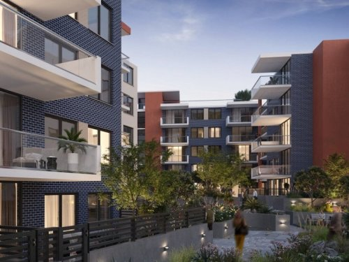 artist impression of the North Kellyville apartment building complex