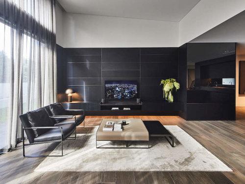 Spacious, modern open plan living room