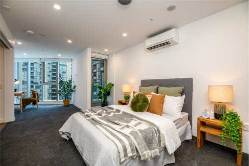 bedroom in an SDA apartment