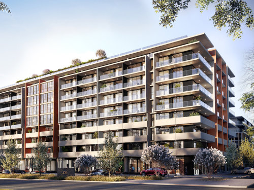 Apartment building exterior for the new SDA homes in Braddon, ACT