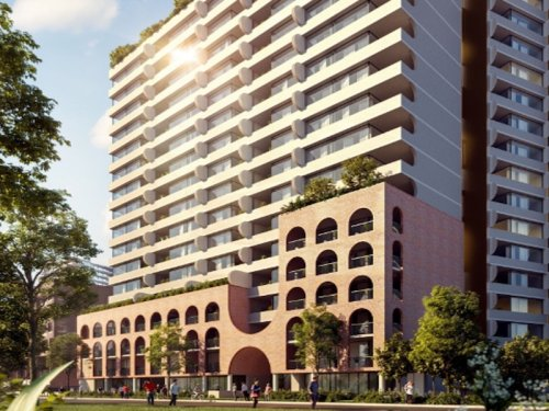 artist impression of the Foundry apartment building