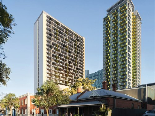 Artist impression of Penny Place apartment building exterior