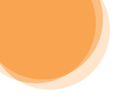 three overlapping yellow circles coming in from the top left corner on a white background