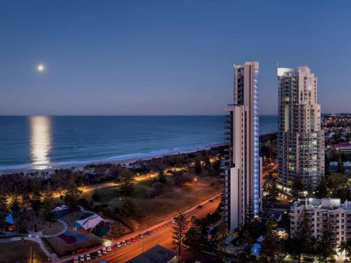 artist impression of the apartment building at broadbeach