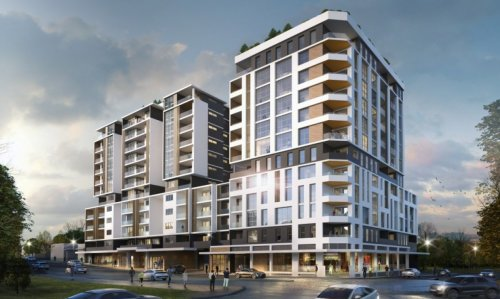 artist impression of Auburn apartment exterior
