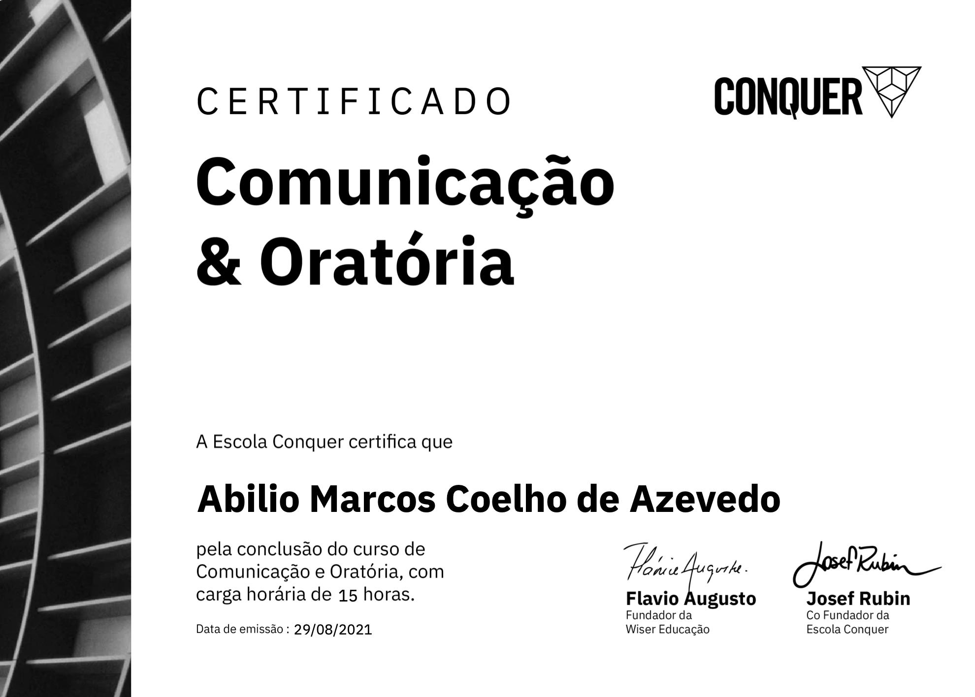 Cover Image for Curso de Comunicação e Oratória - Conquer