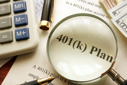 "Document with ""401K Plan"" title."