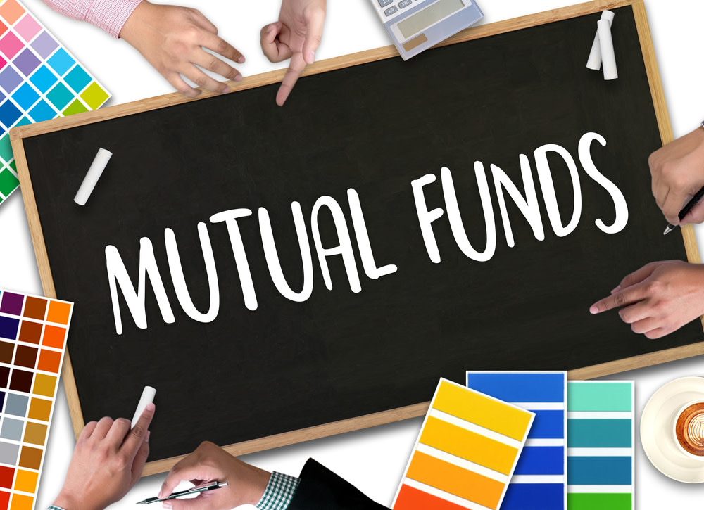 Mutual Fund written on chalkboard