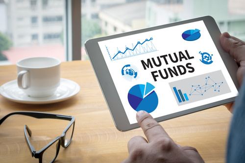 Mutual Fund Application on a Tablet