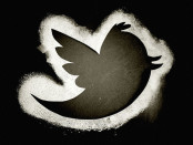 Black and white twitter logo