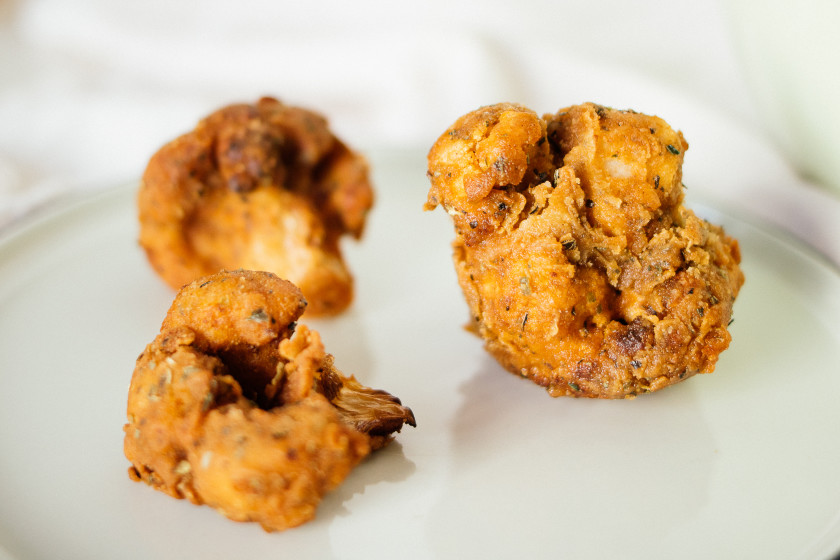 R154 vegan cauliflower chicken wings