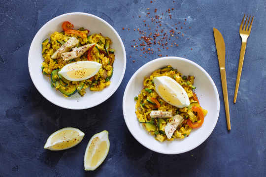 Spanish Paella with Artichokes