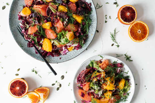 Citrus salad with blood orange vinaigrette