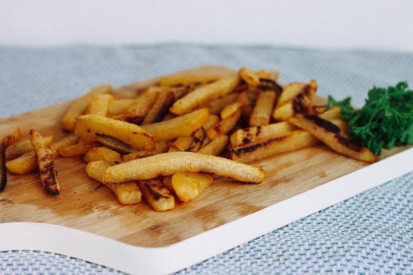 R55 Baked Kohlrabi Fries