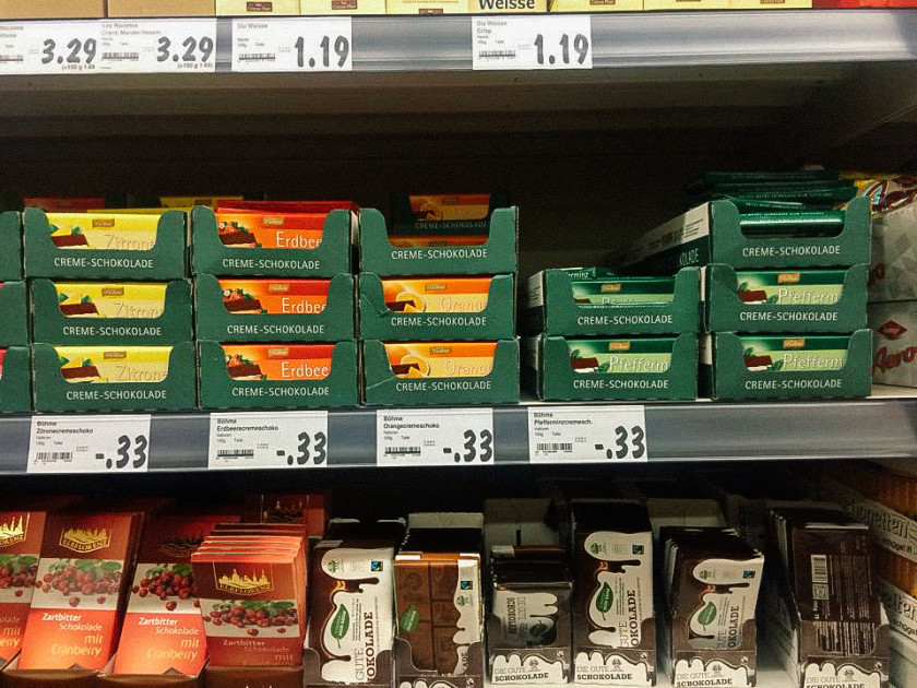 A36 Vegan sweets in supermarkets