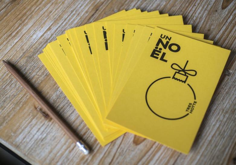 Carte Papier Popset jaune