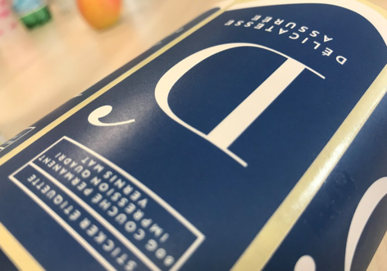 Etiquette vernis mat